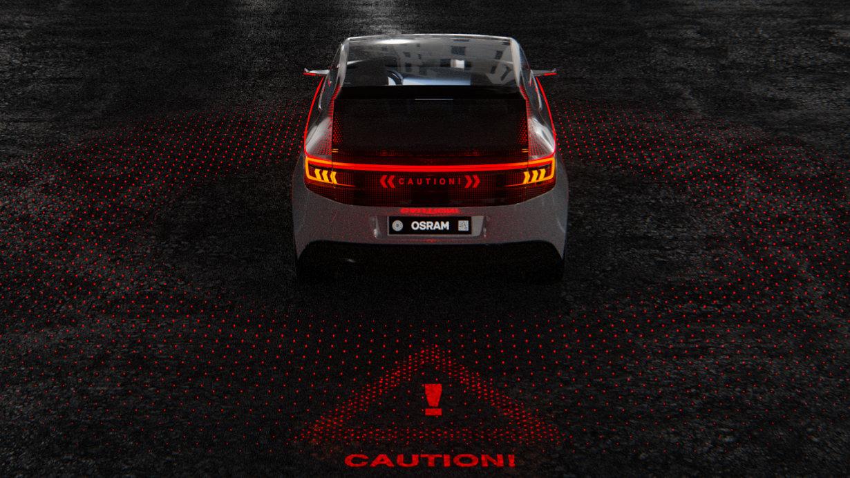 欧司朗的RCL(车后组合灯)技术展示出车外照明在未来数年中即将迎来的改变。