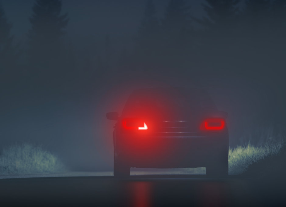 Synios Rear Fog Lights at Night