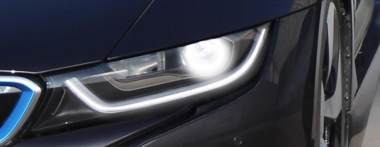 应用于宝马i8的激光照明