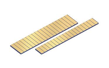 低填充因子连续波 (CW) 激光棒