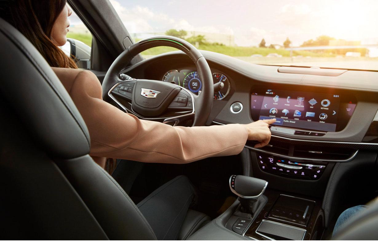 """2018 款凯迪拉克 CT6 配备""""超级巡航""""系统,这是业内首项名副其实的高速公路自动驾驶技术。"""