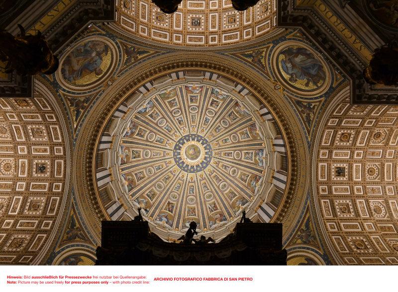 圣彼得大教堂主圆穹绽放新光 图片来源: ARCHIVIO FOTOGRAFICO FABBRICA DI SAN PIETRO
